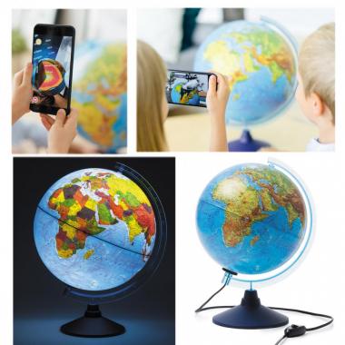 Глобус 250мм физико-полит интерактивный INT12500284 с подсветкой